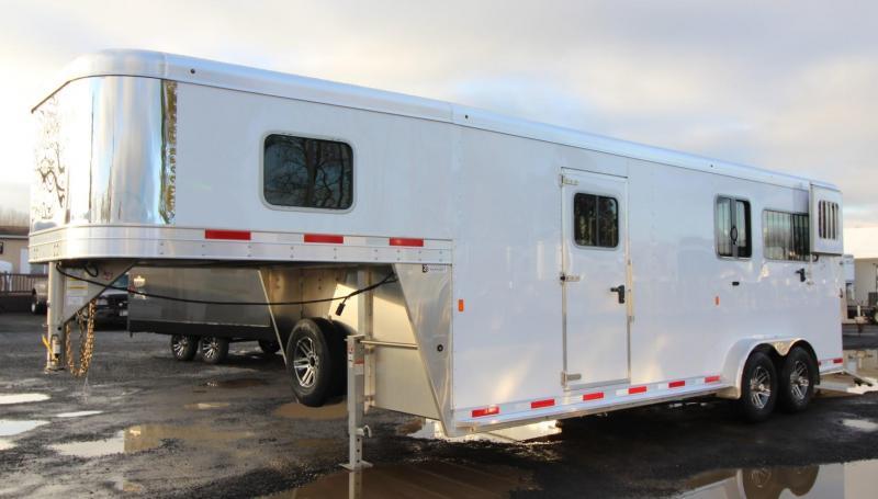 2020 Exiss 7200 SR 2+1 Straight Load w/ Box Stall & Side Ramp Warmblood Horse Trailer