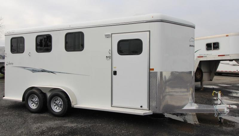"2020 Thuro-Bilt Liberty 7'6"" Tall 3 Horse Trailer LARGE stalls - Swing out saddle rack - H20"