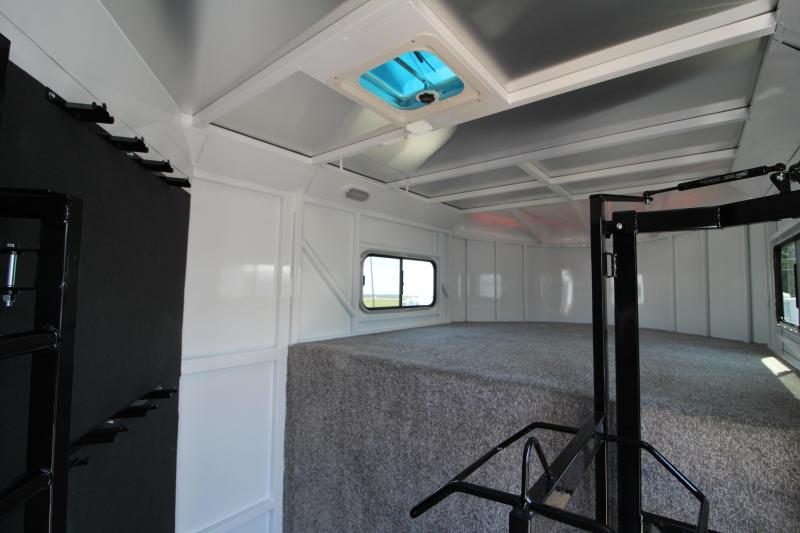 """2020 Trails West Classic 3 Horse Gooseneck Trailer - Added Height 7'6"""" Tall - First Stall Escape Door - Swing Out Saddle Rack - Steel Frame Aluminum Skin"""
