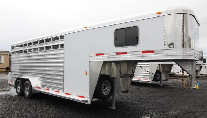 "NEW 2019 Exiss STC 7020 Stock Combo Trailer 7'2"" Tall -  All Aluminum - Tack Room - Rubber Floor Mats -  REDUCED PRICE"