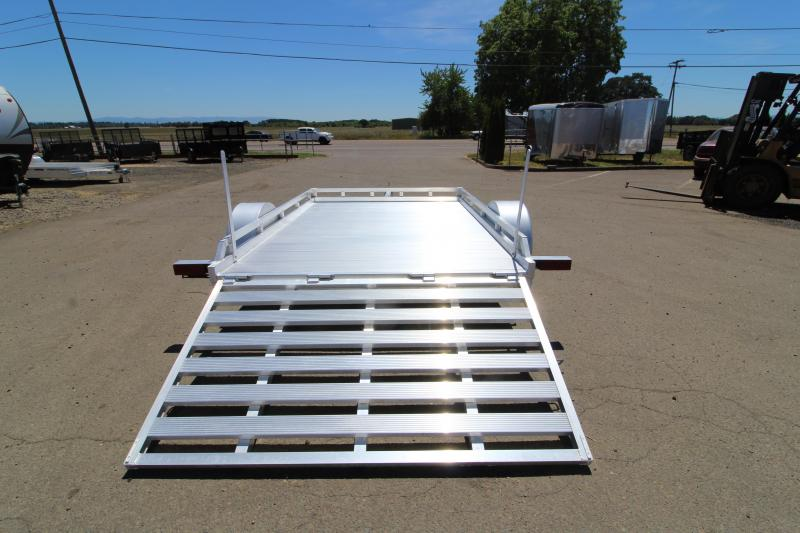 NEW 2019 Featherlite 1693 Utility Trailer - 10' Long - Rear Ramp - All Aluminum Construction - PRICE REDUCED $300