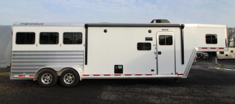 2020 Featherlite 7841 Liberty SE 10ft Sw Living Quarters 3 Horse Trailer