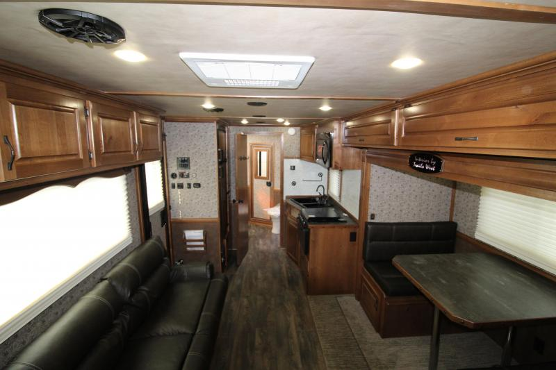 NEW 2019 Trails West Sierra 3 Horse Trailer - Easy Care Flooring Upgrade - 15' x 19' L.Q. with Slide-out - Oven - Generator Ready - Hay Rack - Mangers - Upgraded Premium Western Interior PRICE REDUCED BY $1000