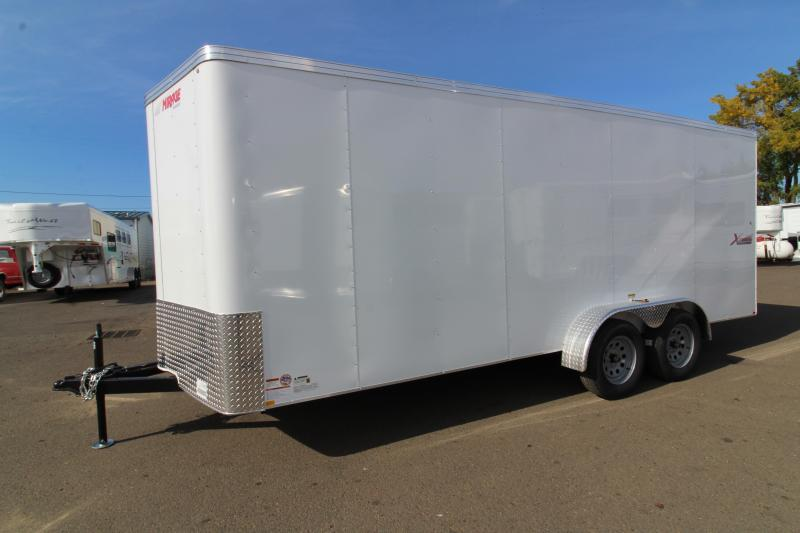 2020 Mirage Xpres 7' x 18' Enclosed Cargo Trailer - UPGRADED Rear Ramp Door -  LED Dome Light - Bar Lock Man Door