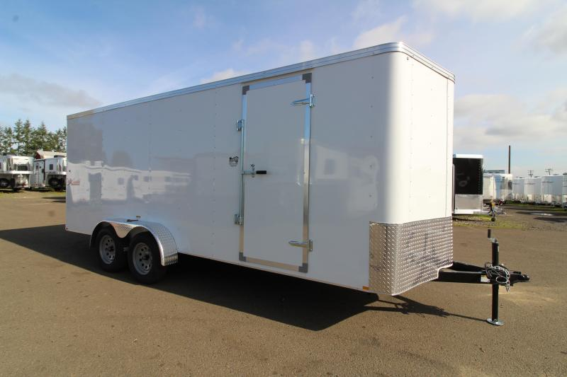 2020 Mirage Xpres 7' x 18' Enclosed Cargo Trailer - UPGRADED Rear Ramp Door -  LED Dome Light - Bar Lock Man Door