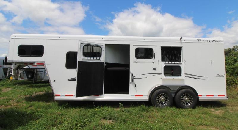 2020 Trails West Classic 3 Horse Trailer W/ Comfort Package - Extra tall - Side tack - Stud divider