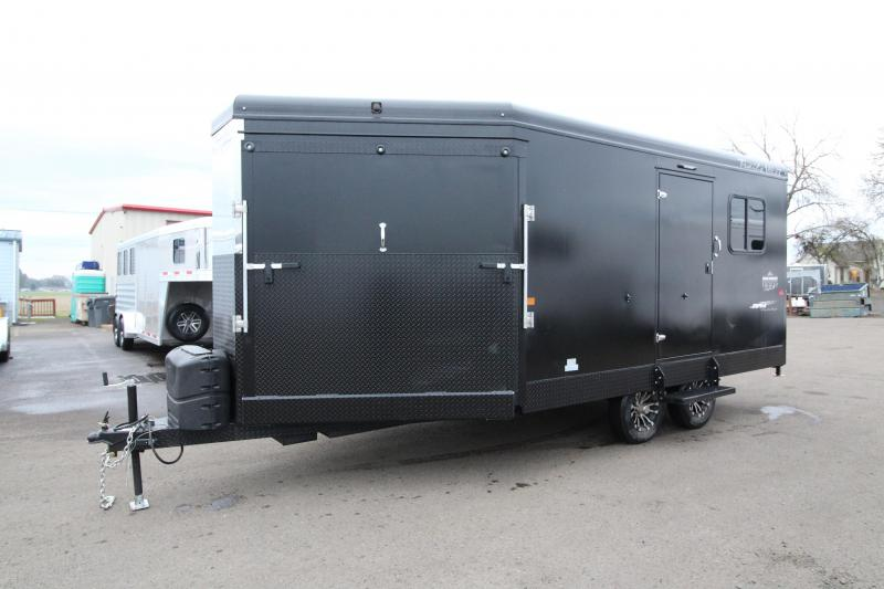 2020 Trails West Burandt RPM Snowmobile Trailer - Lined and Insulated - Ducted Furnace - Kicker Speakers - 110v Power Converter