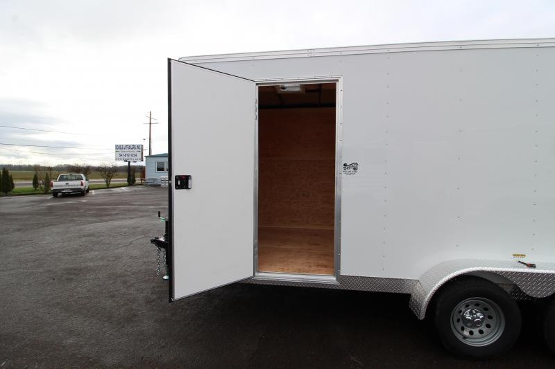 2020 Mirage Xpres 7' X 16' Enclosed Cargo Trailer - Side by Side Package - Roof Vent - Interior Spare Tire and Mount