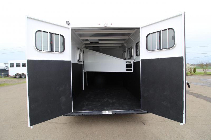 NEW 2019 Trails West Adventure MX 3 Horse Trailer - UPGRADED Rear Door Windows - Swing Out Saddle Rack - NEW Floor Pan with Larger Stalls!