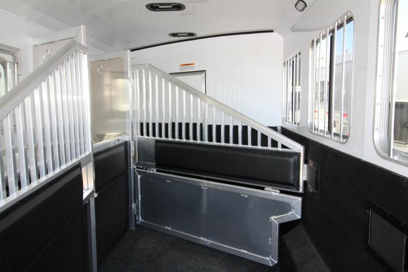 "NEW 2018 Exiss 8410 10' L.Q. 4 Horse Trailer - Upgraded Interior - Lined and Insulated Horse Compartment- Upgraded Airflo DividersPRICE REDUCED BY $6300- All Aluminum - 7'8"" Tall - Stud Wall - Easy Care Flooring - Large Refrigerator - Power Awning"
