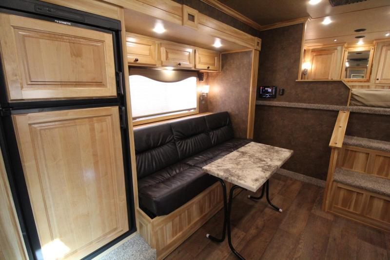 2019 Exiss Trailers Endeavor 8312 Horse Trailer W/ 12' SW  Slide - Easy Care Flooring PRICE REDUCED