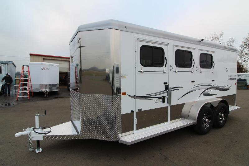 2020 Trails West Sierra Select II Horse Trailer - Lined and Insulated Walls and Roof - Drop Down Feed Doors - Slam Latch Aluminum Dividers