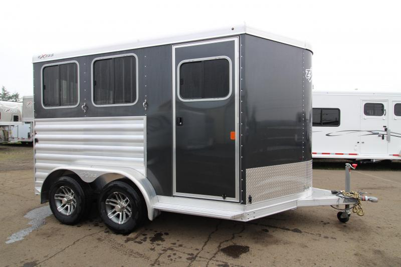 2020 Exiss Express XT 2H BP Horse Trailer - Easy Care Flooring - All Aluminum Construction