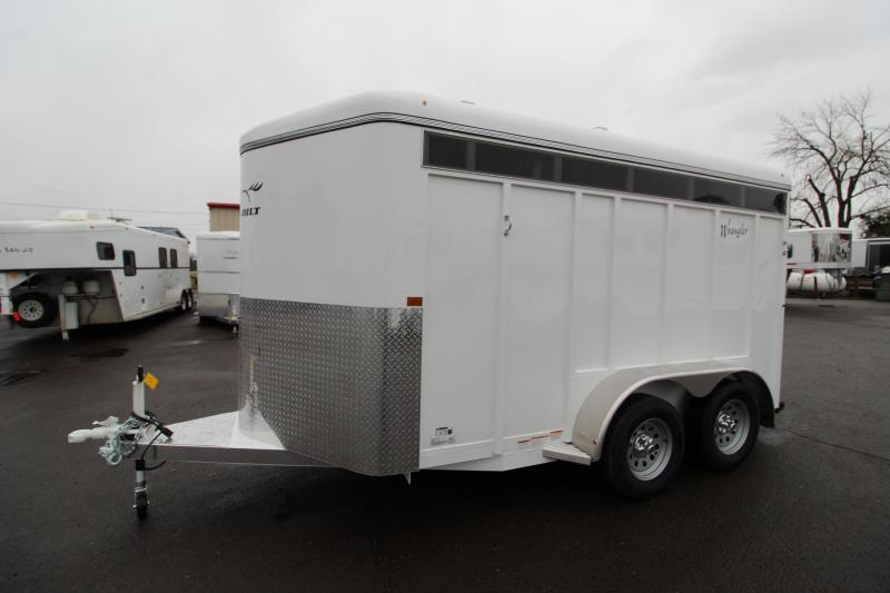 2020 ThuroBilt Wrangler 2 Horse Trailer-  Camper Side Door w/ Window - Swing Out Saddle Tree