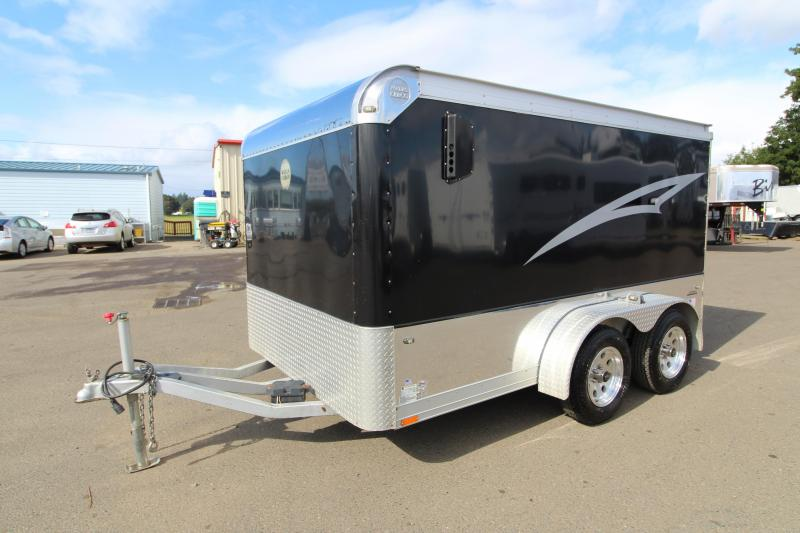 2008 Wells Cargo Badlands Motorcycle Trailer- 500lb Wall-mounted Tie-offs - Rear Corner Post Stabilizer Jacks - Flow Through Side Wall Vents - Exclusive Safety Package