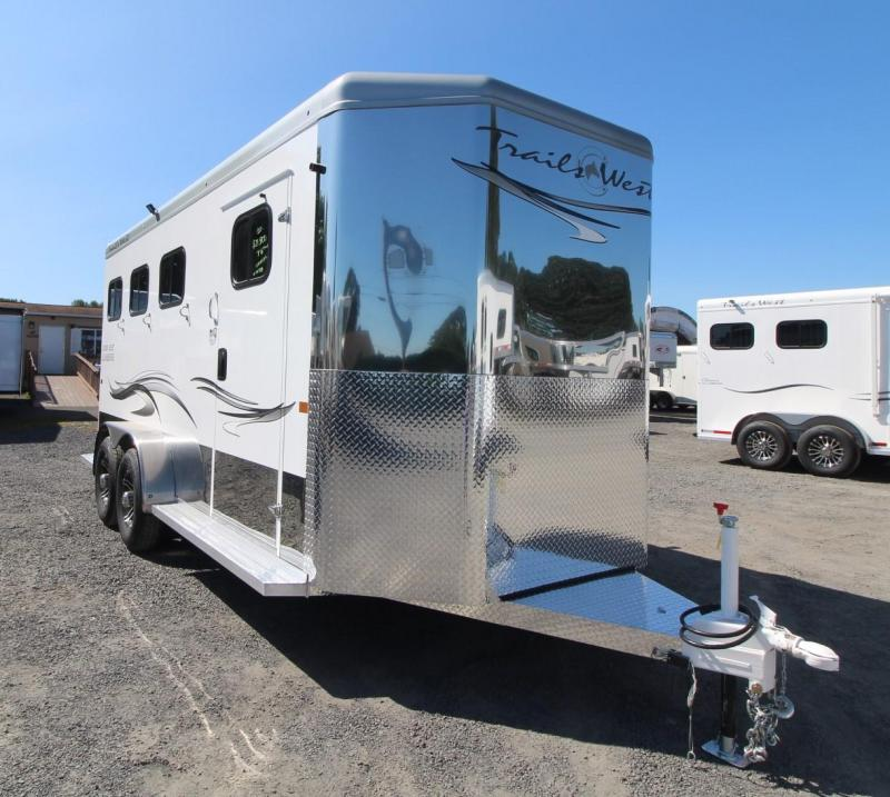 """2020 Trails West Sierra Select 7'6"""" Tall Escape Door 3 Horse Trailer -Fully Lined and Insulated"""