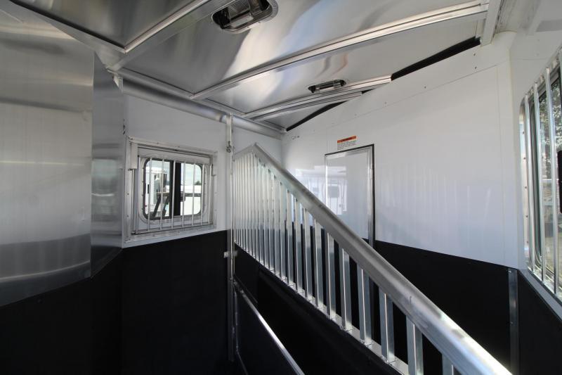 2019 Exiss Trailers 7208 - 8' SW Living Quarters 2 Horse Trailer - Easy Care Flooring - All Aluminum PRICE REDUCED
