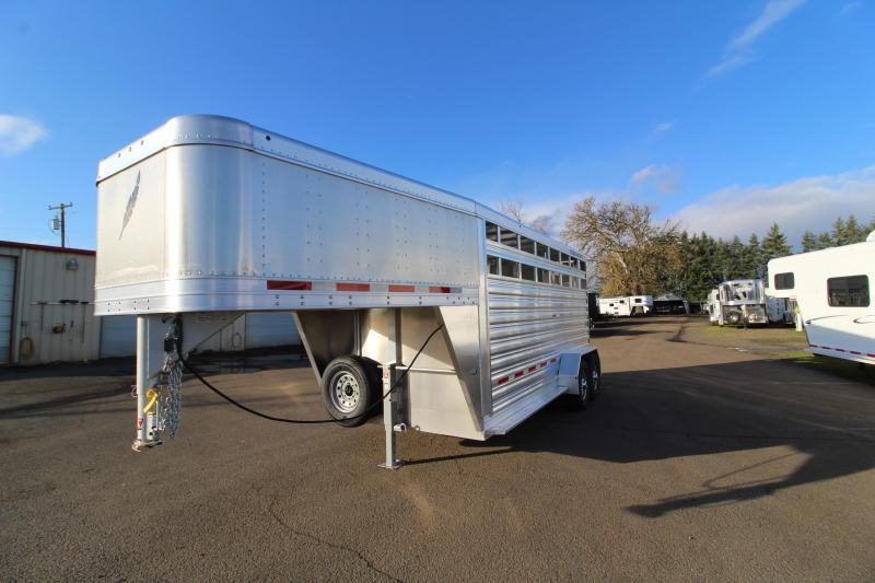 2020 Featherlite 16' Gooseneck Stock Trailer