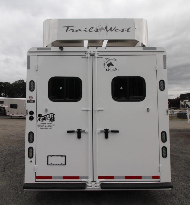 2020 Trails West Sierra 11x15 w/ Slide 3 Horse Trailer W/ Hay Rack - Easy care flooring - Mangers - Dinette