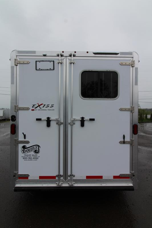 NEW 2019 Exiss 730 - 3 Horse Bumper Pull - All Aluminum - Folding Back Tack - Easy Care Flooring - 2' Short Wall Dressing Room