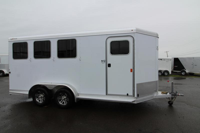 NEW 2019 Exiss 730 - 3 Horse Bumper Pull - All Aluminum - Folding Back Tack - Easy Care Flooring - 2' Short Wall Dressing Room