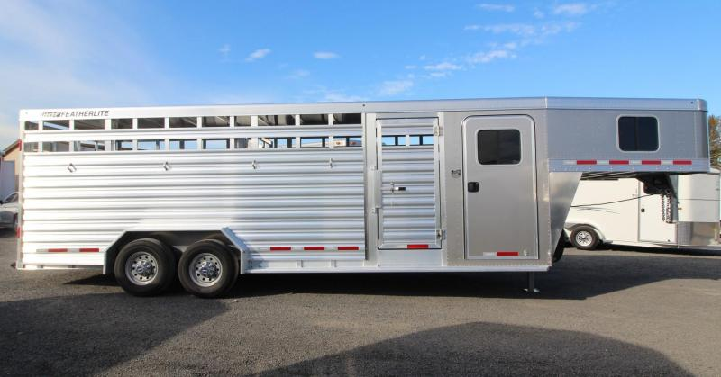 2020 Featherlite 8413 - 24ft Stock Combo Livestock Trailer