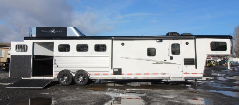 2020 Trails West 11x15 LQ 4 Horse Trailer - SIDE LOAD W/ Ramp - Full width Rear Tack