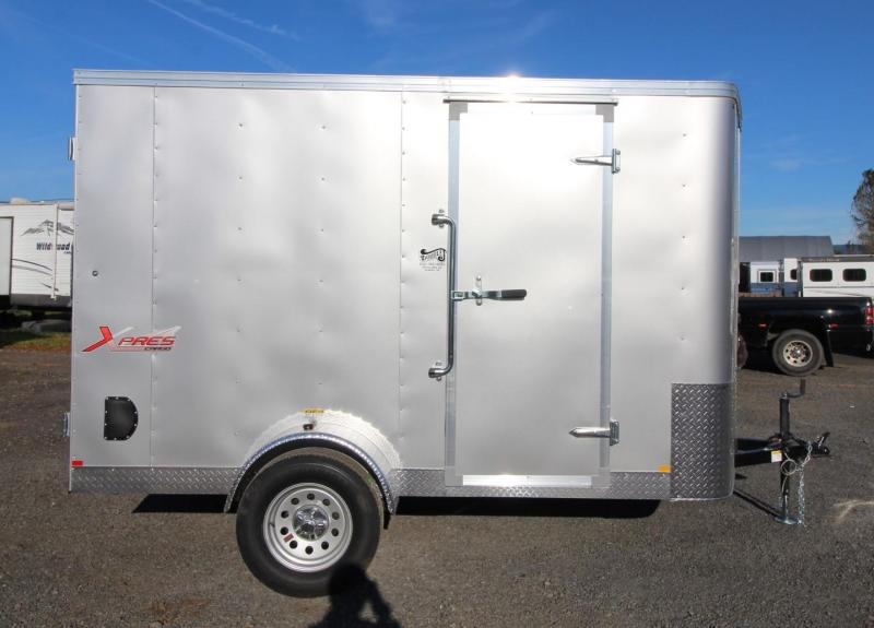 2020 Mirage Xpres 6' x 10' SA Enclosed Cargo Trailer- Diamond Ice Exterior - Xtra Package