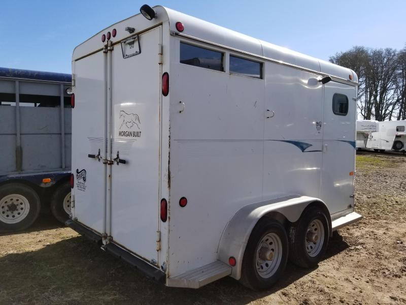2002 Morgan Built 2 Horse Trailer w/ swing out saddle rack - Adjustable divider