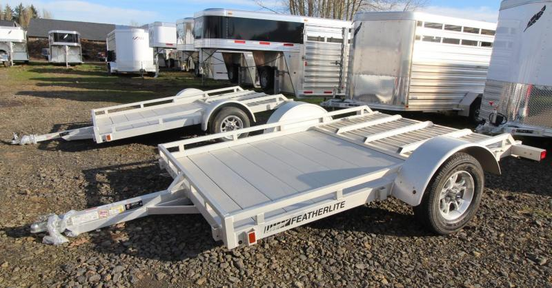 2019 Featherlite 1693 Flatbed Utility 10ft Trailer w/ Ramp - All Aluminum -PRICE REDUCED $425