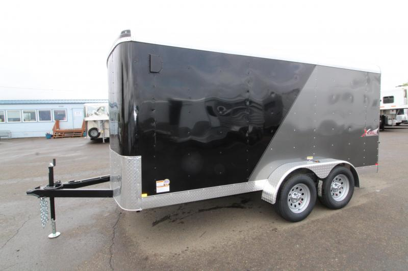 NEW 2019 Mirage Xcel 7' x 14' Enclosed Cargo Trailer- Xtra Package - Ramp Rear Door - RV Man Door -  Dual Exterior Color - Domed Roof - Radius Front
