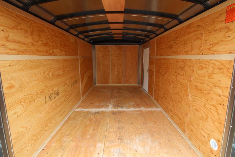NEW 2019 Mirage Xcel 7' x 14' Enclosed Cargo Trailer- Xtra Package - Ramp Rear Door - RV Man Door -  Dual Exterior Color - Domed Roof - Radius Front