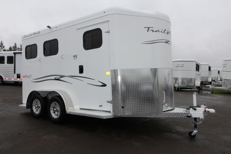 "NEW 2019 Trails West Classic 2 Horse Trailer - Upgraded Lined and Insulated Ceiling - Extra Tall 7'6"" - Swing Out Saddle Rack"