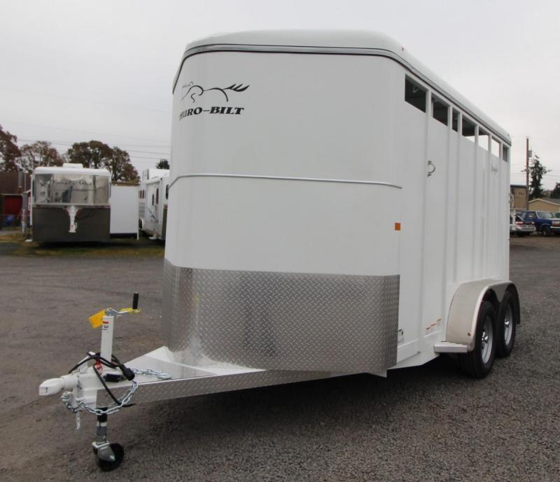 "2020 Thuro-Bilt Wrangler 2 Horse Trailer 7'6"" Tall Upgraded Large Stalls"