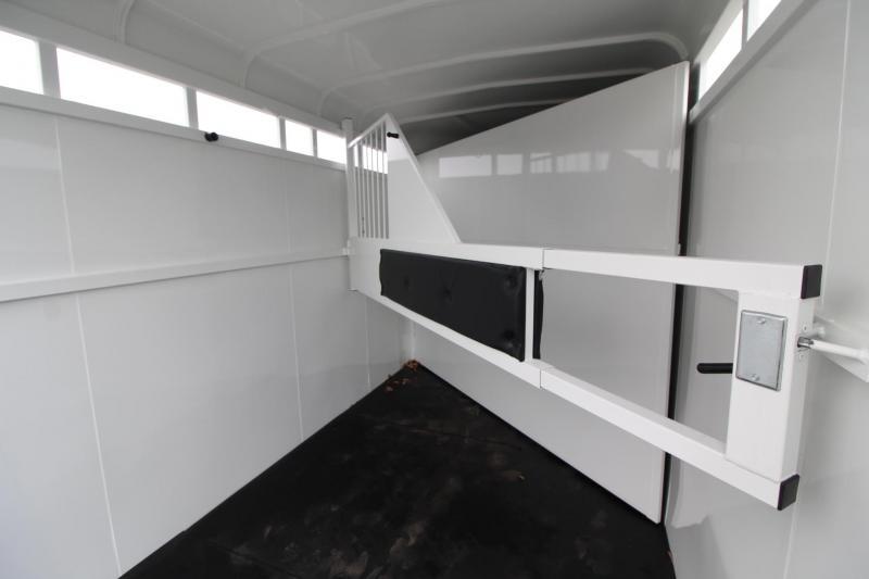 """2020 Thuro-Bilt Wrangler 2 Horse Trailer 7'6"""" Tall Upgraded Large Stalls"""