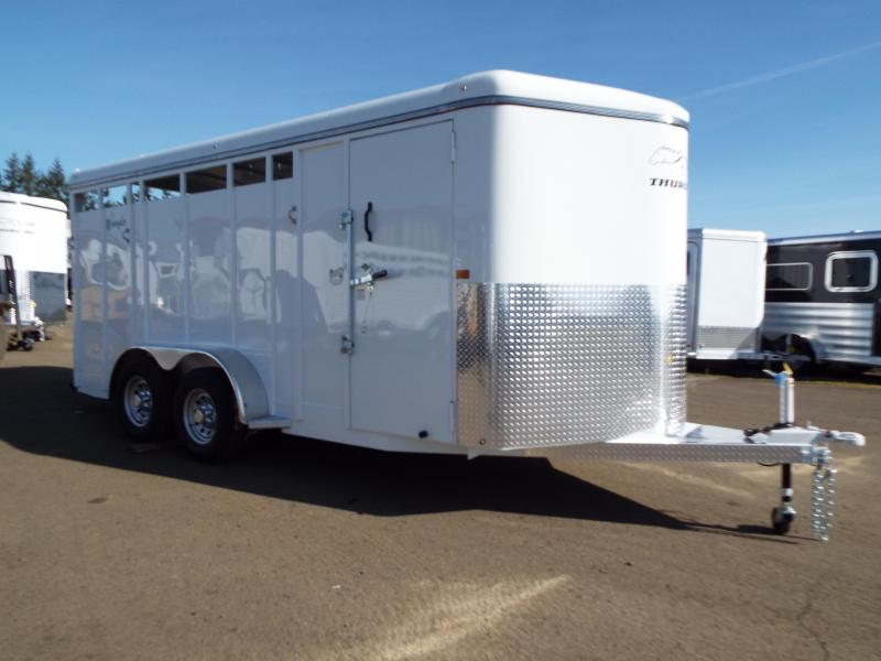 2020 Thuro-Bilt Horse Wrangler 3 Horse Trailer - Swing Out Saddle Rack-Upgraded Large Stall Size-Swinging Slant Wall for Multi Use