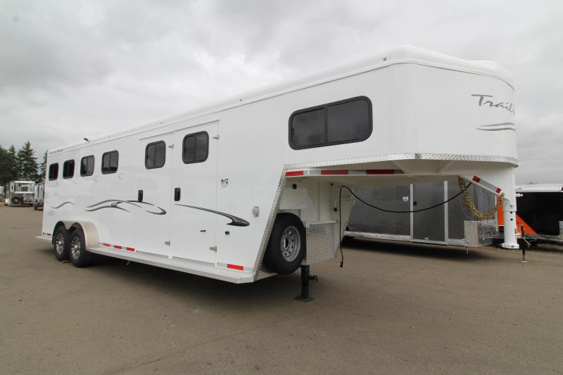 2020 Trails West Classic Comfort Package 4 Horse Trailer-  Side Tack - Pass Through Door - Swing Out Saddle Rack - Side Escape Door
