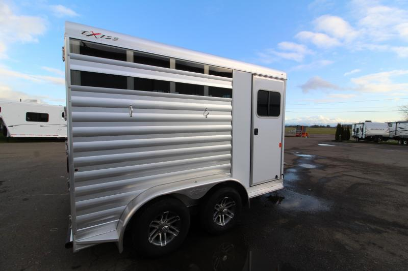 2020 Exiss CXF 2 Horse Trailer - Drop Down Windows - Tail Side Stock Style Air Gaps