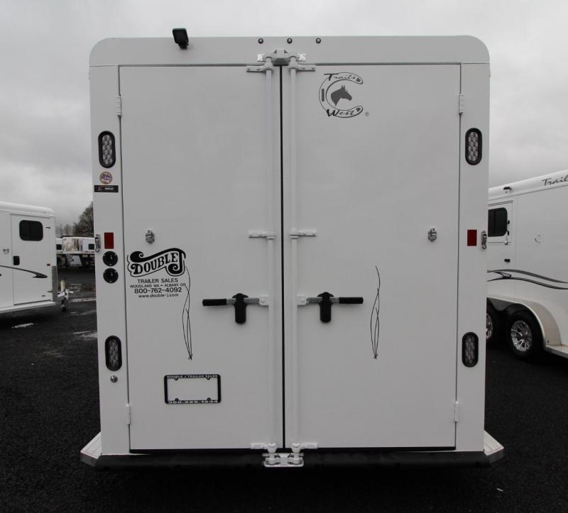 "2019 Trails West Classic II 7' 6"" Tall - 2 Horse Trailer PRICE REDUCED - Lined and Insulated Roof - Convenience Package - Triple Wall Construction"