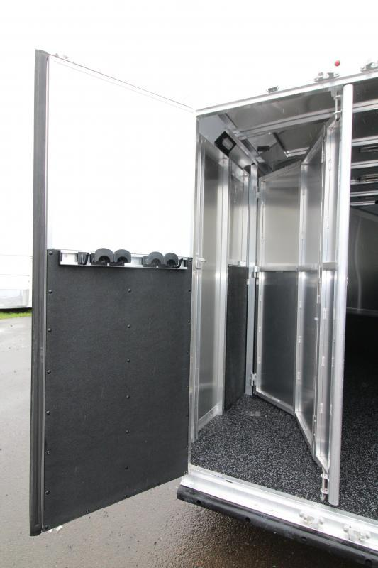 NEW 2019 Exiss 730 - 3 Horse Bumper Pull - All Aluminum - Folding Back Tack - Easy Care Flooring - 2' Short Wall Dressing Room PRICE REDUCED $1100