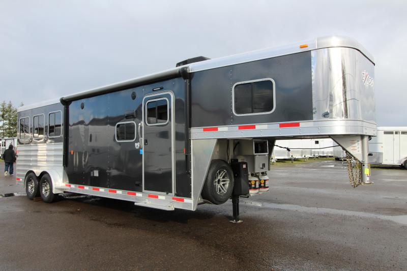 NEW 2019 Exiss 7310 - 3 Horse Trailer 10' Short Wall L.Q. - All Aluminum - Easy Care Flooring - Power Awning - Upgraded Interior Options- PRICE REDUCED