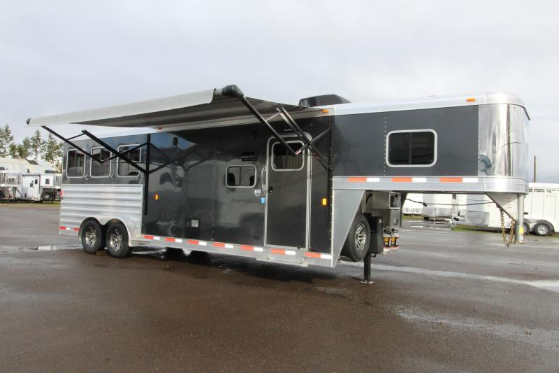 NEW 2019 Exiss 7310 - 3 Horse Trailer 10' Short Wall L.Q. - All Aluminum - Easy Care Flooring - Power Awning - Upgraded Interior Options- PRICE REDUCED $2700