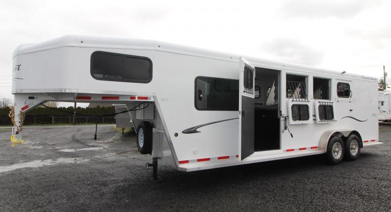 2019 Trails West Classic 5' x 5' Comfort Package PRICE REDUCED $1000 Sleeping Area 4 Horse Trailer w/ Side Tack - Convenience Package - Padded and Insulated Walls - Steel Frame Aluminum Skin