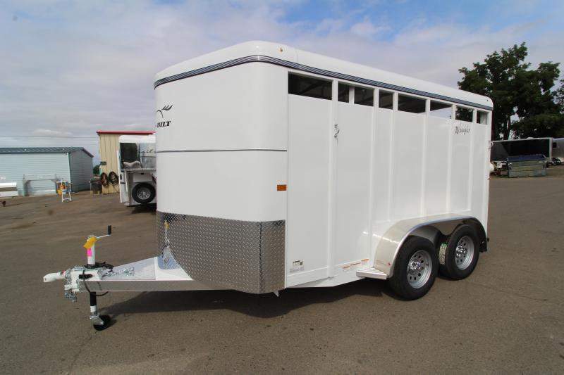 WIN THIS TRAILER AT CANBY BARREL RACE CLUB! 2020 Thuro-Bilt Wrangler 2-horse Trailer - Flood Light - Spare Tire - Swinging Removable Diagonal Wall