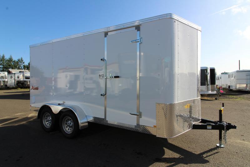 2020 Mirage Xpres 7' X 14' - Xtra Package - Rear Ramp Door Upgrade - V Nose - Flat Top - Crystal White Exterior