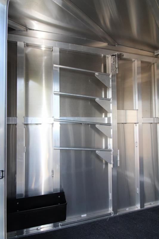 2020 Featherlite 7441 - 2 Horse All Aluminum Trailer - Drop Down Windows - Wave Panel Exterior Siding - Fully Enclosed Tack Room - Folding Rear Tack