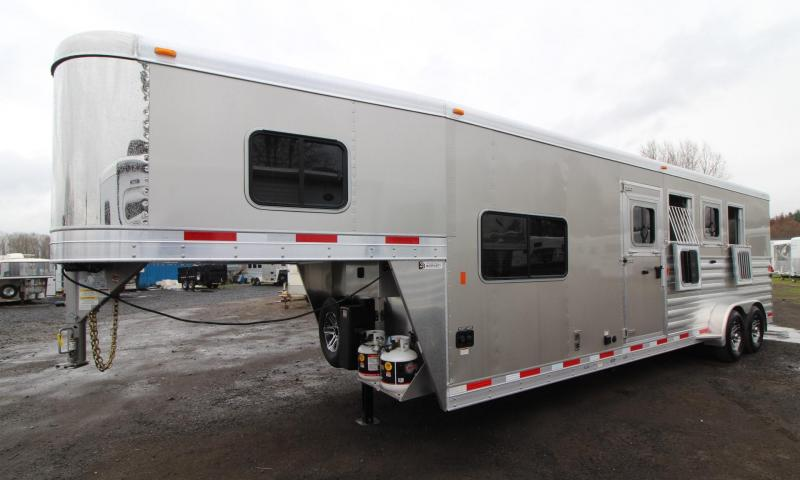 "2019 Exiss Escape 7408 Living Quarters 8' 6"" Short Wall - 4 Horse Trailer - $REDUCED$5400 - Easy Care Flooring - All  Aluminum Construction"