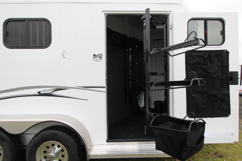 "2019 Trails West Classic II 7'6"" PRICE REDUCED - 2 Horse Trailer Lined & Insulated Roof Aluminum Skin Steel Frame"