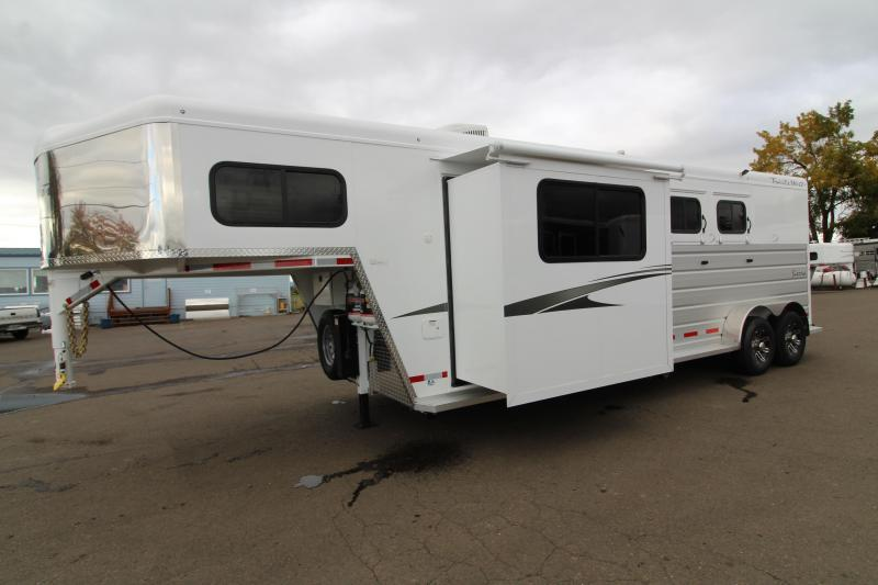2020 Trails West Sierra 2 Horse 10x10 L.Q. - Slide Out - Side Tack - Electric Awning