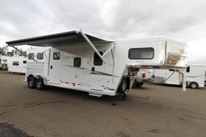 2020 Trails West Sierra 2 Horse 10' x 10' Living Quarters - Slide Out - Side Tack - Electric Awning